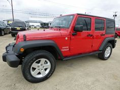 Jeepers! They Don't Get Much Better Than This Striking Red 2011 #Jeep #Wrangler Unlimited Sport #4x4 #SUV with a Hard Top, Running Boards, Power Equipment, a Clean CARFAX & More for Just $21,990 -- http://hertelautogroup.com/2011-Jeep-Wrangler/Used-SUV/FortWorth-TX/8680349/Details.aspx  #jeepwrangler #4wd #4wheeldrive