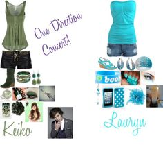 """""""One Direction Concert! Keiko and Lauryn"""" by kiara-fleming ❤ liked on Polyvore"""