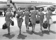 Pan Am beauties from the 1960 era.