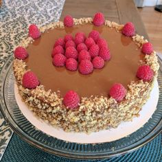 My first cake!!! Thin layer cake (crepe cake) with walnuts raspberries and dulce de leche #baking #cooking #food #recipes #cake #desserts #win #cookies #recipe #cakes #cupcakes