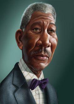 morgan freeman caricature photo