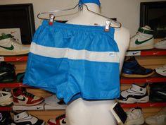 VTG 1980's Nike Women's Athletic Running Shorts NWT Ocean Blue Medium USA Retro #Nike #Athletic