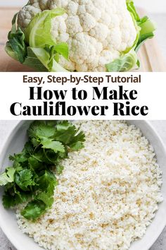 How to Make Cauliflower Rice - an easy step-by-step tutorial that shows you how to make cauliflower rice 2 different ways! Tons of tips and tricks so your cauliflower rice will turn out amazing every time! #cauliflowerrice #howtomakecauliflowerrice #cauliflowerricerecipe #cauliflowerriceeasy #whole30recipes #paleorecipes Whole30 Beef Recipes, Paleo Meal Prep, Pork Recipes, Lunch Recipes, Whole 30 Lunch, Whole 30 Breakfast, Dairy Free Recipes, Gluten Free, Healthy Treats