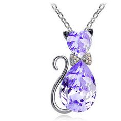 Crystal Cat Pendant Necklaces. Free Shipping Plus 20% OFF Code: CAT20. Hurry Offer Ends Today!