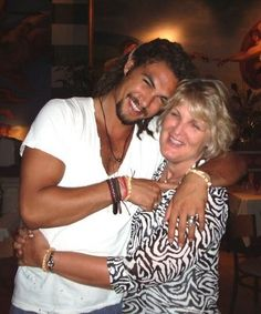 Jason Momoa and his mom
