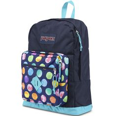 Jansport City Scout Multi Water Color Spot Backpack ($40) ❤ liked on Polyvore