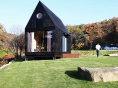 Ultra-minimalist tiny house prototype built for preserving a 'slow town'