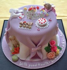 A sugar craft cake... so cute!