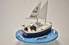 good gifts for boat captains Holy Communion Cakes, Boat Cake, Nautical Cake, Cake Piping, Fondant Decorations, Cake Gallery, Celebration Cakes, Themed Cakes, Cake Designs