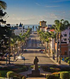Classic California Street in Ventura, CA