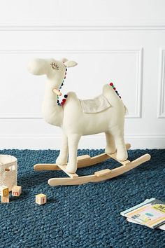 Cozy Camel Rocker - such a cute piece for the little ones! Tribal Nursery, Boho Nursery, Nursery Rocker, Modern Blankets, Baby Camel, Baby Corner, Boho Baby, Soft Sculpture, Nursery Themes