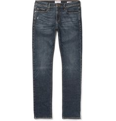 Blending Scandi-cool with London attitude and LA denim expertise, FRAME's 'L'Homme' jeans are made with a stretch construction in a form-fitting skinny shape. Dyed in the brand's mid-blue 'Hoover' wash, they have light whiskering and distressing for a seasoned, lived-in appeal. This dependable pair is sure to score instant favourite status in your casual lineup.
