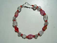 Handmade Pink and Silver Bracelet by ReprievesCorner on Etsy, $7.99