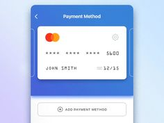 Select method android  animation  app  bank  card  flat  ios  microanimation  mobile  payment  ui  ux