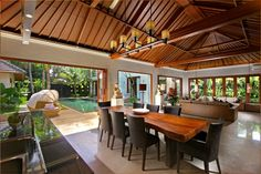 Bali Alfresco - Solid slab table is beautiful. Something we get in.