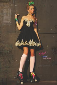 I could do this look. I have a dress just like this...it's for when I was 13. It is my lucky # but don't think it's lucky enough I will fit into it. Lol