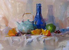 "qiang-huang, a daily painter: ""Demo at Los Angeles 3"" --- Sold"