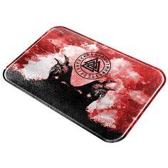 Berserker Viking's Blood Odin's Ravens All Over Glass Cutting Board