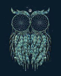 Dream catcher owl