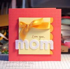 simple card for mom