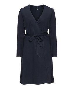 Manon Baptiste Wrap dress in Dark-Blue