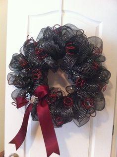 Gamecock Geo-Mesh wreath!!! #gamecocks #universityofsouthcarolina #usc