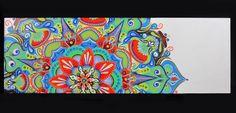 ORIGINAL ARTWORK Peacock Mandala by tuffjulz on Etsy