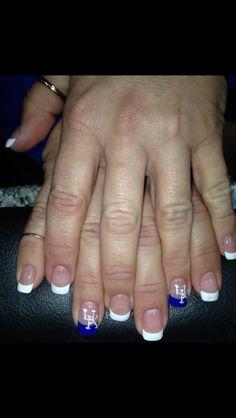 UK Wildcats! Nail design Uk Nails, Love Nails, How To Do Nails, Pretty Nails, Hair And Nails, Pretty Nail Designs, Short Nail Designs, Simple Nail Designs, Fingernails Painted