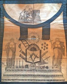 Hand made Mason's Apron (c. 1700) - from Beamish Museum
