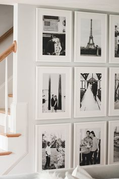 A Mix of Min shares how to easily build a floor to ceiling gallery wall with Framebridge. Frame Wall Collage, Gallery Wall Frames, Frames On Wall, Ikea Gallery Wall, Gallery Walls, Framed Art, Photo Wall Decor, Metal Wall Decor, Ikea Frames