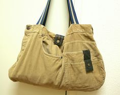 Upcycled bag from cord trousers from Bartinki