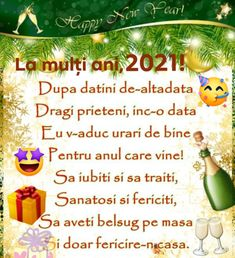 An Nou Fericit, Happy New Year Photo, New Year Photos, Diy And Crafts, Happy Birthday, Angel, Messages, Christmas Ornaments, Architecture