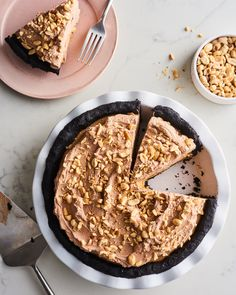 No-Bake Peanut Butter Pie with Chocolate Whipped Cream | Kitchn