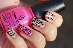 DIY Nail Art | Leopard Nails Pink 'Kitty Kitty' ~ Beautyill | Beautyblog met nail art, nagellak, make-up reviews en meer!