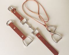 Equestrian Leather Accessory Gift Set for Women, Handmade Gift Package, Horse Snaffle Bit Bracelet, Stirrup Necklace and key chain - C1