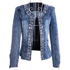 nia retro para mujer camiseta de manga larga de jean de mezclilla vintage camisa de tapas de la blusa chaqueta