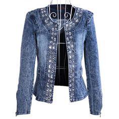 Compra long denim jacket for women y disfruta del envío gratuito en  AliExpress.com d34d5e652f42