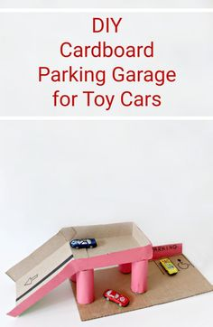 DIY Upcycled Cardboard Parking Garage for Toy Cars