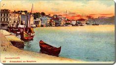 Old post-card of Arnavutkoy- Istanbul