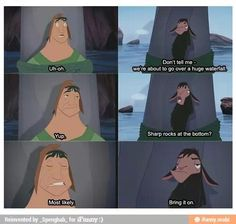 the emperor's new groove, bring it on, just got added to netfliX.  HAD TO WATCH IT!