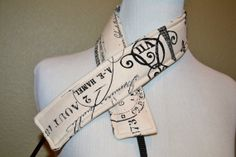 Camera Strap, narrow / padded with foam for comfort, Darby Mack / dslr gear / camera gear / Black French Script on Natural
