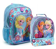 Disney Frozen Backpacks for Girls are the hit of the season. If your little girl doesn't have one for school or just to carry around her stuff, you better get one now. Cute Backpacks, Girl Backpacks, Lunch Box Set, Frozen Toys, Lunch Tote Bag, Disney Frozen, Anna Disney, Gifts For Girls, Briefcase