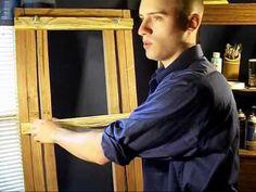 Homemade H-Frame Easel for under $40 - YouTube
