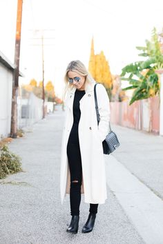 Reformation Trench Coat {found in store, similar one here & here} // Merino Tippi Sweater {$94} // J Brand Skinny Jeans {$217} // Chanel Boy Bag {similar one here & here} // Acne Boots