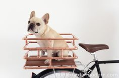 DIY: copper bike basket