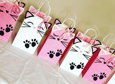 Kitten party favor bags, available on Etsy! Kitten party favor bags, available on Etsy! Kitten party favor bags, available on Etsy! Kitten party favor bags, available on Etsy! Cat Birthday, 6th Birthday Parties, Birthday Ideas, Birthday Pictures, Cat Themed Parties, Kitty Party Themes, Wedding Party Games, Party Favor Bags, Diy Party Bags