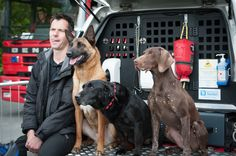 Every Tuesday our Fire #Dogs play a round of #TongueOutTuesday. It looks like their handler, Matt, wanted to get involved this week!