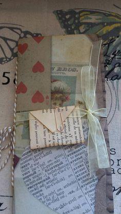 Handmade journal, travellers notebook style, junk journal.