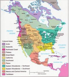 The map shows the states of North America Canada, USA and Mexico ...