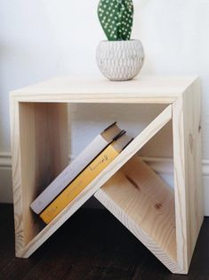 Bedroom - DIY and design Nightstand / Modern table / Modern side table Diy Furniture Couch, Furniture Projects, Wood Projects, Woodworking Projects, Modern Furniture, Furniture Design, Furniture Stores, Plywood Furniture, Painted Furniture